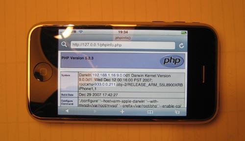 php sur mon Iphone